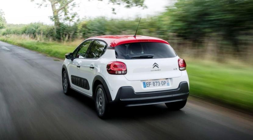 Trasera del Citroën C3