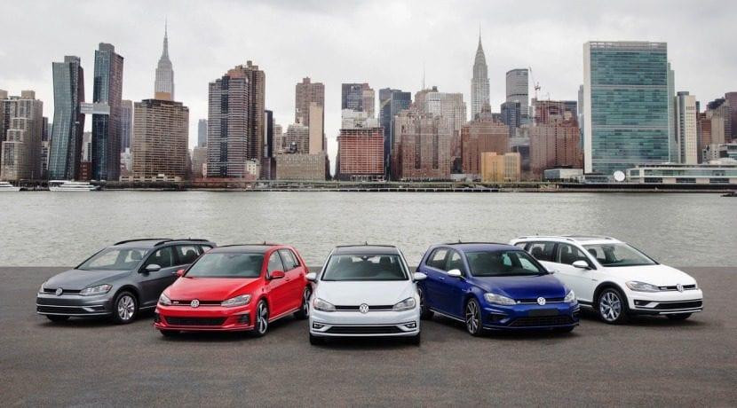 Volkswagen Golf familia Auto Show Nueva York