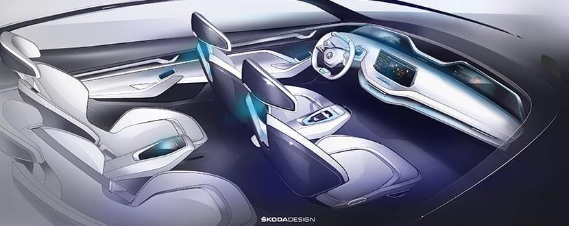 Skoda Vision E interior