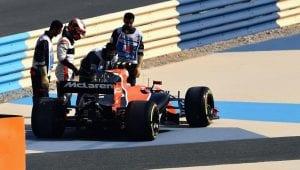 McLaren de Vandoorne en el GP de Bahrein parado
