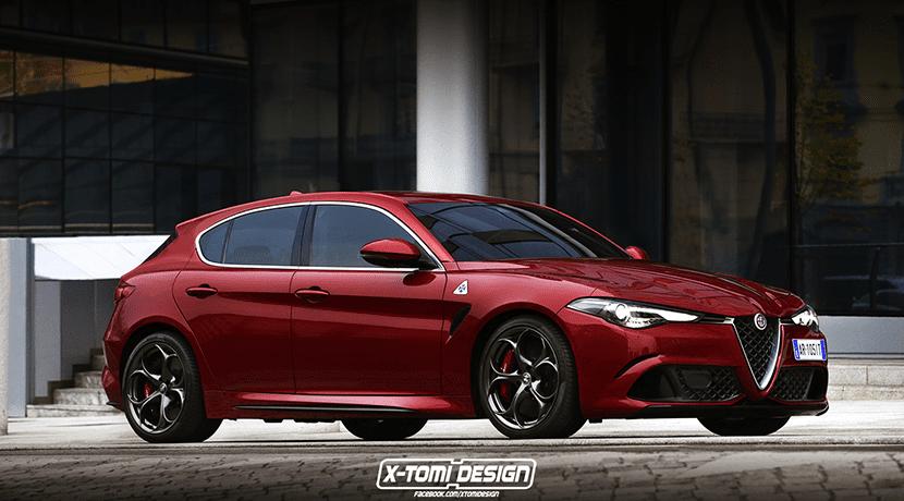 Render del Alfa Romeo Giulietta Quadrifoglio