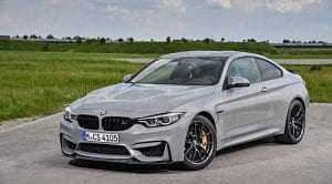 BMW M4 CS en color Lime Rock Grey Metallic