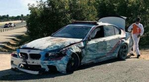 BMW M5 Safety Car accidente