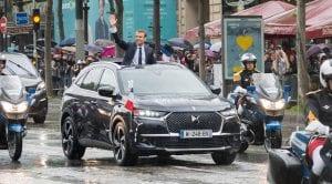 DS 7 Crossback utilizado por Macron en Francia