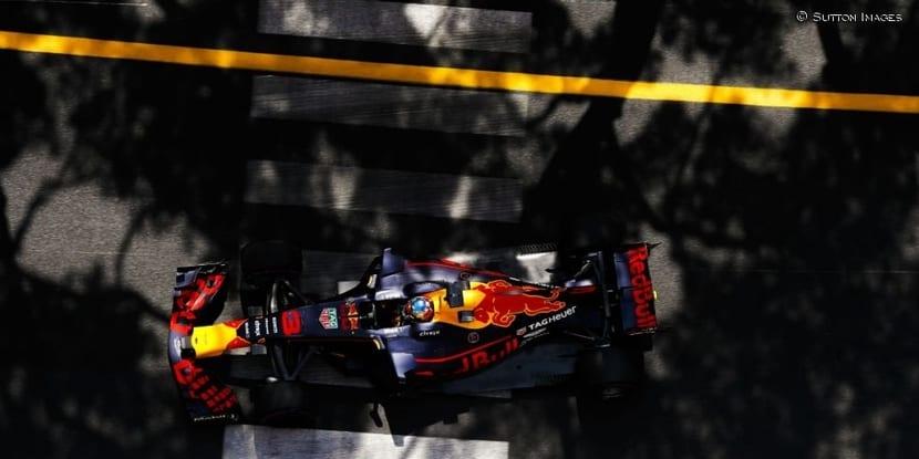 GP de Mónaco Red Bull visto desde arriba