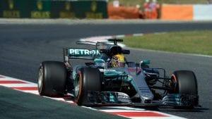 Hamilton con el Mercedes F1 W08