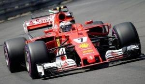 Kimi en el Ferrari 2017