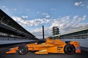 Lateral del MClaren-Honda Andretti para la Indy