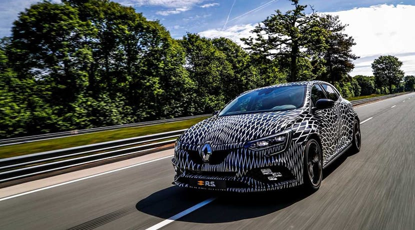 Renault Mégane RS teaser con Niko Hülkenberg