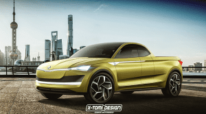 Render de Skoda Vision E hecho pick-up