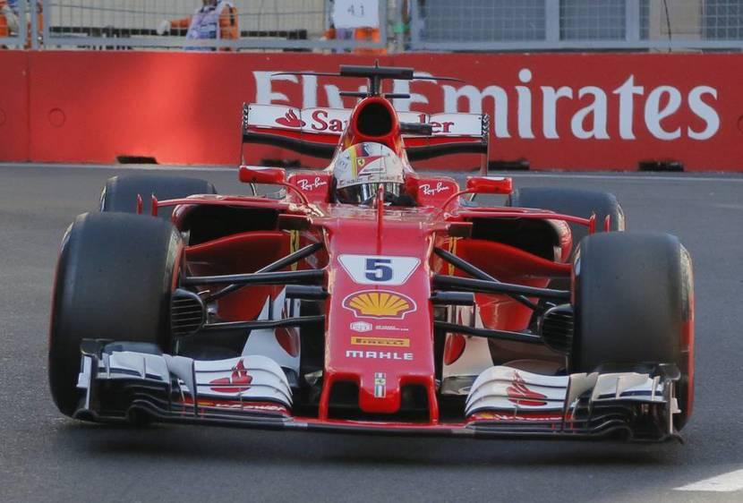 Vettel en Bakú