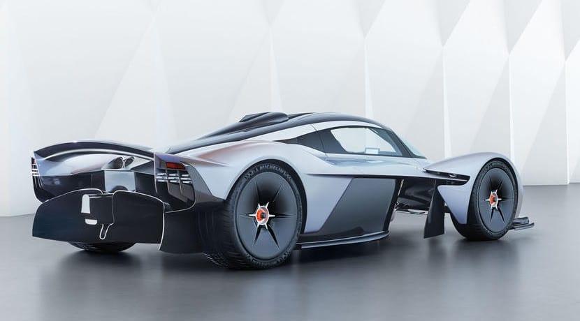 Trasera del Aston Martin Valkyrie