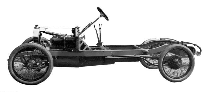 Detalle de un chasis por bastidor de largueros
