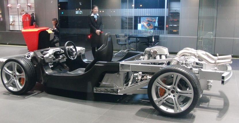 Detalle del chasis de un McLaren