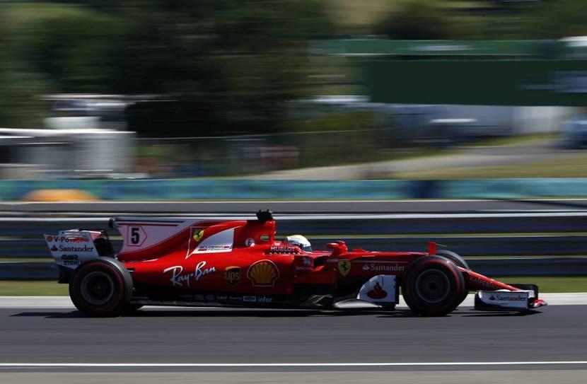 Vettel 5 Ferrari 2017 Hungría