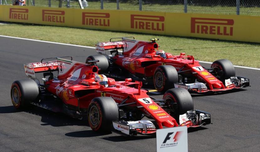 Ferrari's en el GP de Hungría 2017