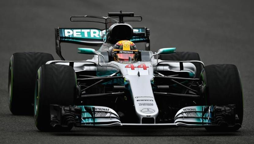 Lewis Hamilton en el Mercedes W08