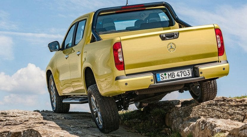 Suspensión de la Pick-up de Mercedes (Clase X)