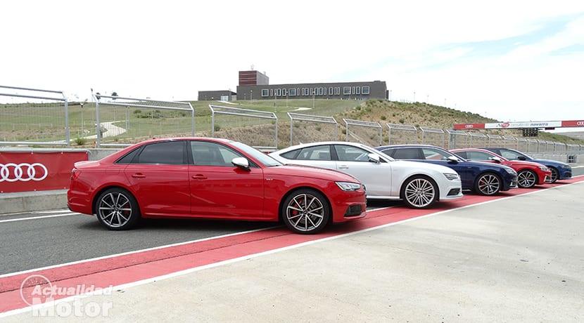 Prueba Gama Audi S en el Circuito de Navarra