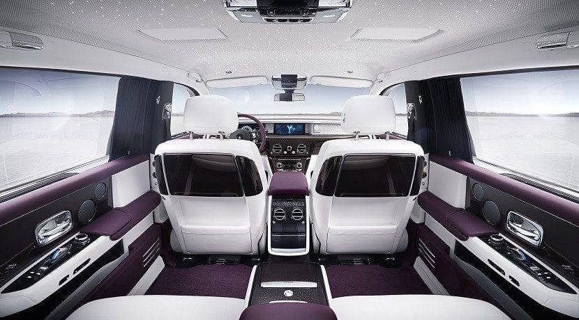 Interior del Rolls-Royce Phantom 2018