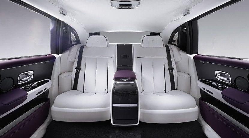 Plazas traseras del Rolls-Royce Phantom 2018