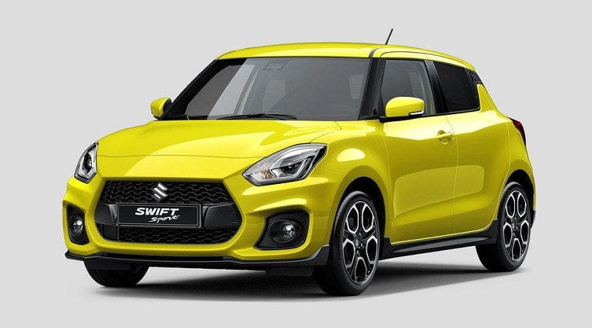 Frontal del Suzuki Swift Sport