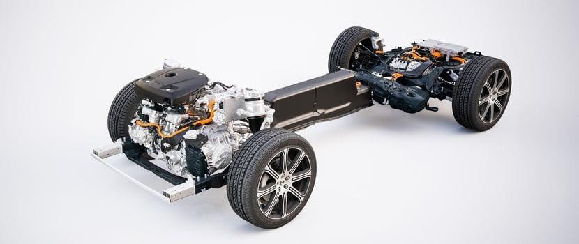 Detalle de la plataforma modular SPA de Volvo