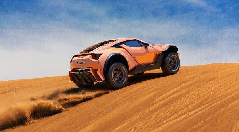 Trasera del Zarooq Sand Racer 500 GT
