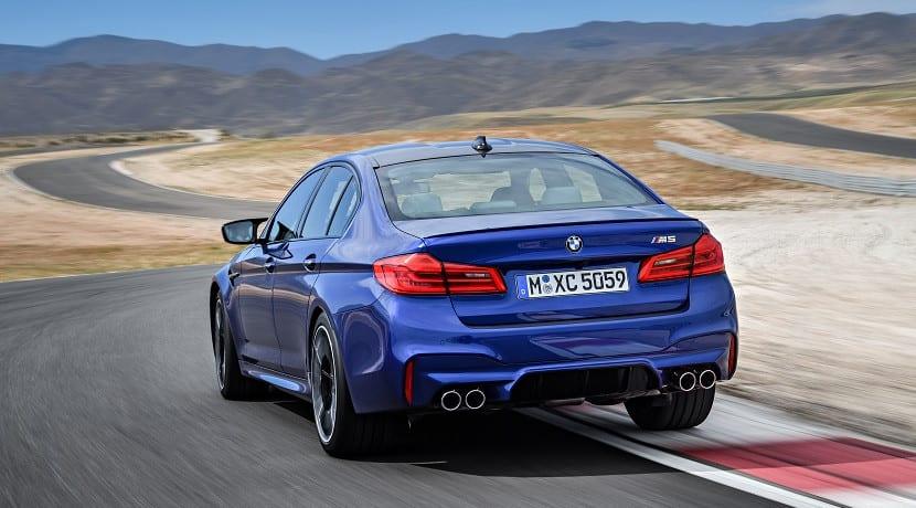 Trasera del BMW M5 2018