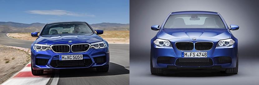 Comparativa BMW M5 2018 frontal