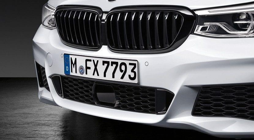 Marco negro Accesorios M Performance para el BMW Serie 6 GT