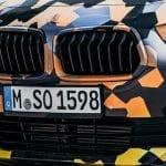 Parrilla doble del BMW X2 camuflado
