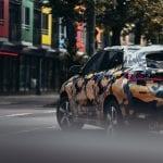 Luces traseras del BMW X2 camuflado