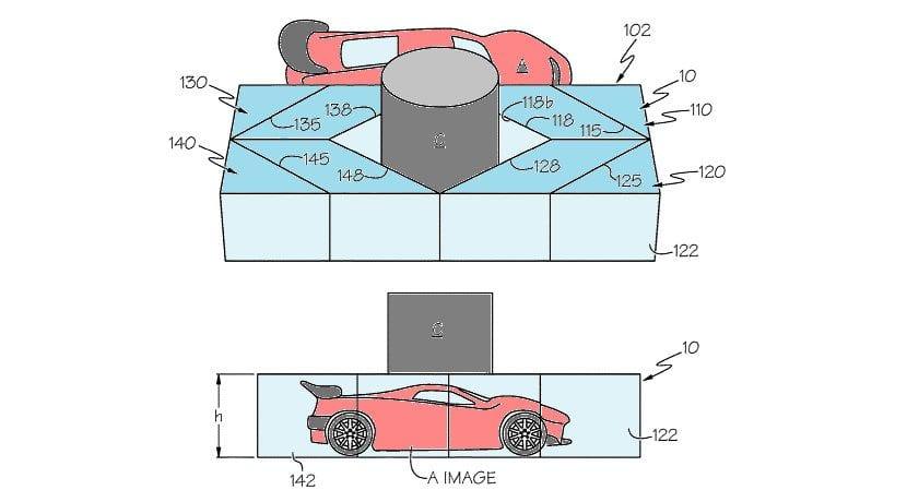 Diagrama de la patente del sistema para ver a través del pilar A