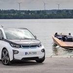 BMW i3 y lancha eléctrica Torqeedo Kaiser K-625