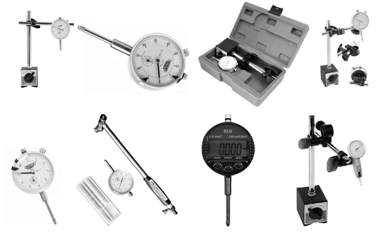 Los relojes comparadores se usan para medir el alabeo de los frenos sin el coche vibra al frenar