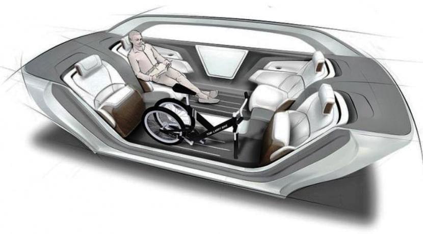 Ford mesa plegable coche eléctrico