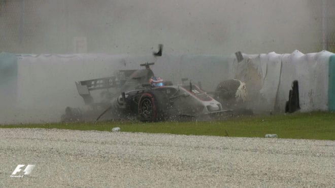 Grosjean accidente Malasa