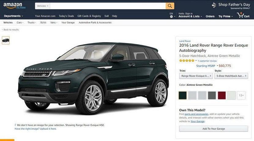 Amazon venta de coches