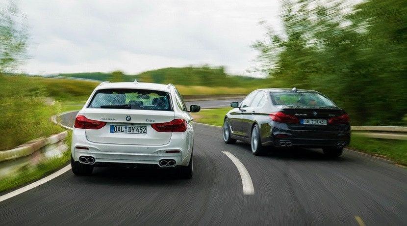 Traseras de las versiones del Alpina D5 S: berlina y Touring