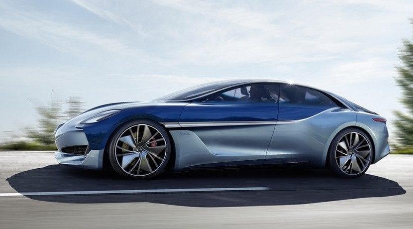 Lateral del Borgward Isabella EV Concept
