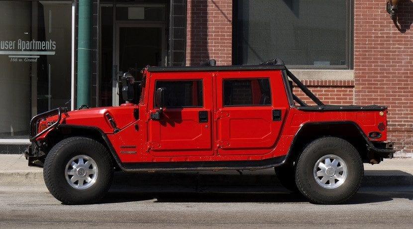 Hummer H1 sin transformar en eléctrico