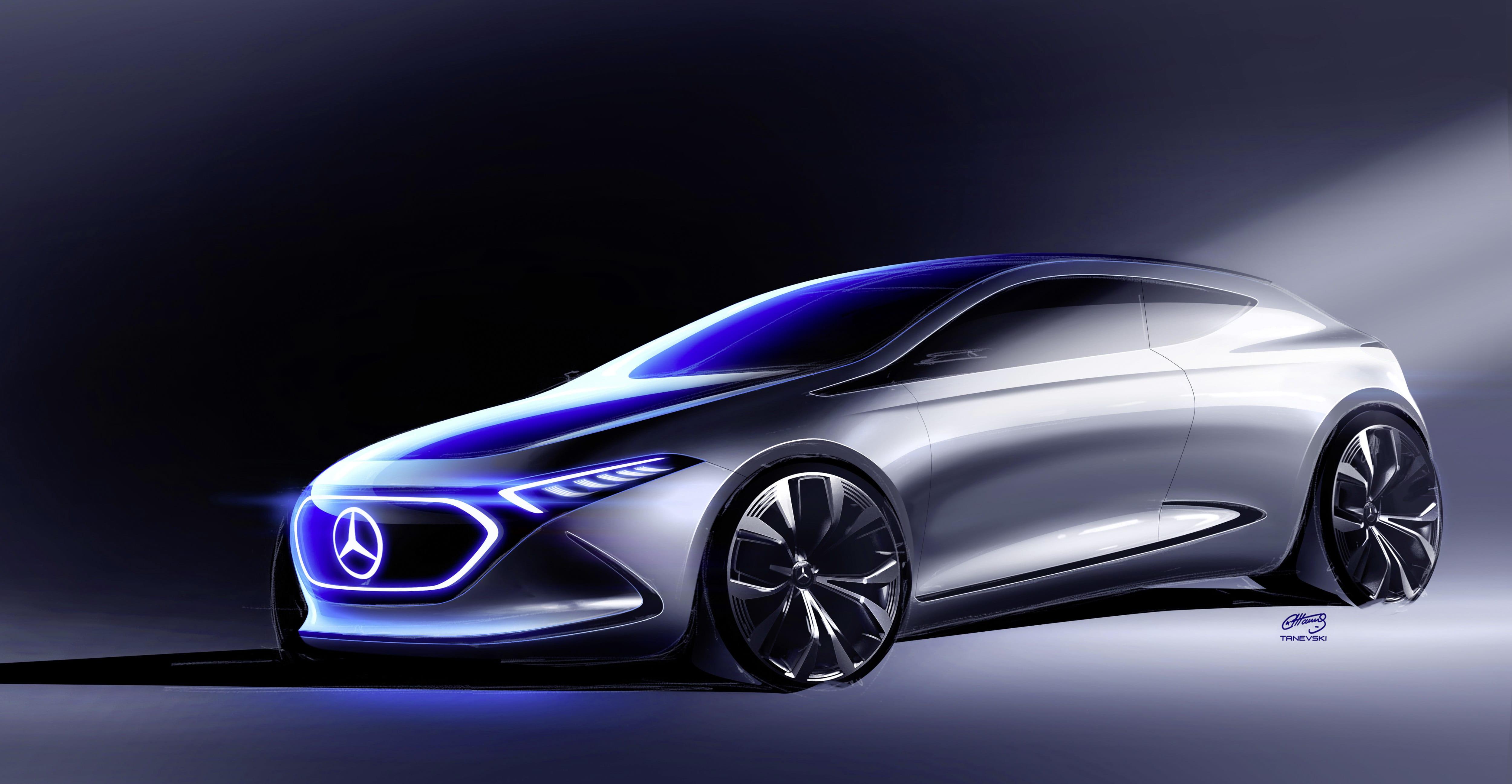 Mercedes benz concept eqa un compacto el ctrico muy sensual for Mercedes benz electric truck