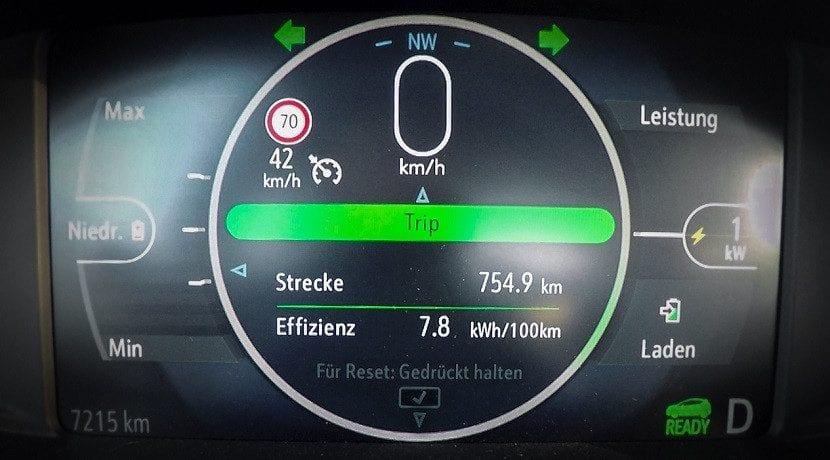 Cuentakilómetros del Ampera-e consigue recorrer 750 Km