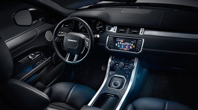 Pantalla táctil - los coches Jaguar Land Rover predicen el tiempo