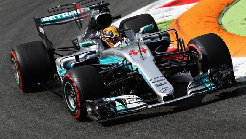 Hamilton gana en Italia