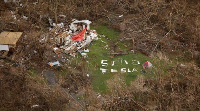 Send Tesla o enviadme un Tesla escrito con escombros