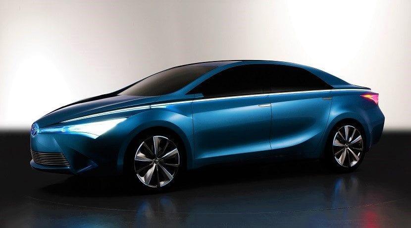 Yundong Shuangqing Concept ejemplo eléctricos de Toyota