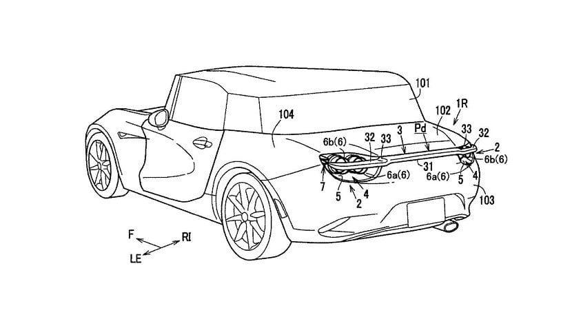 Alerón móvil patentado por Mazda