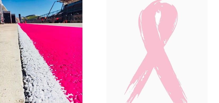 GP de Austin F1 2017 rosa contra el cancer de mama